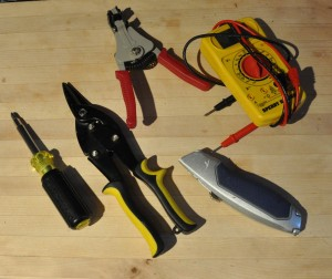Outlet strip tools used